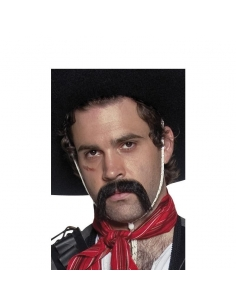 Moustaches mexicain noires effet naturel auto-adhésives | Accessoires