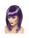 Perruque vamp violette avec frange | Accessoires