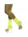 Chaussettes danse 80's fluo jaune   Accessoires