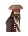 Chapeau de pirate marron avec dreadlocks   Accessoires