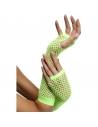 Gants filet sans doigts 80's vert | Accessoires