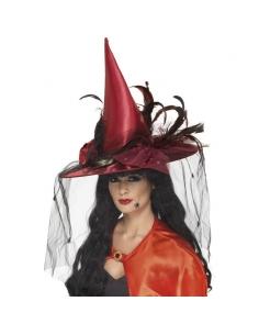 Chapeau de sorcière rouge | Accessoires