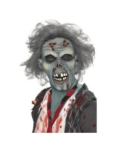 Masque de zombie avec cheveux gris | Accessoires