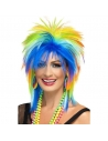 Perruque punk femme multicolore | Accessoires