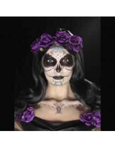 Kit tatouage jour des morts multicolore | Accessoires