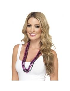 Set 4 colliers perles rose et noir   Accessoires