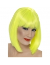 Perruque glam coeurte jaune | Accessoires