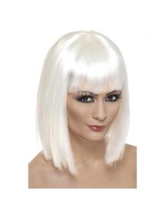 Perruque glam courte blanche | Accessoires