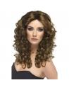 Perruque glamour longue frisée brune | Accessoires