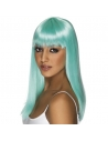 Perruque glamoura turquoise fluo | Accessoires