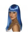 Perruque glamoura bleu fluo | Accessoires