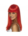Perruque glamoura rouge fluo | Accessoires
