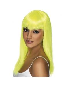 Perruque glamoura jaune fluo | Accessoires