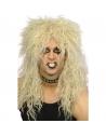 Perruque hard rocker blonde | Accessoires