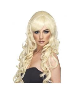 Perruque starlette pop blonde | Accessoires