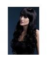 Perruque Isabelle sexy 66 cm, noire | Accessoires