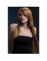 Perruque Amber sexy 71 cm, châtain | Accessoires