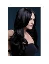 Perruque Khloe sexy 66 cm, noire | Accessoires