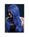 Perruque Khloe sexy 66 cm, bleu fluo   Accessoires