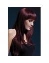 Perruque Sienna sexy 66 cm, noir cerise | Accessoires