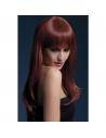 Perruque Sienna sexy 66 cm, châtain | Accessoires