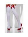 Bas blancs avec nœud rouge | Accessoires