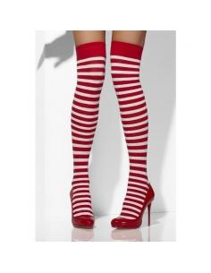 Bas rayés rouge et blanc | Accessoires
