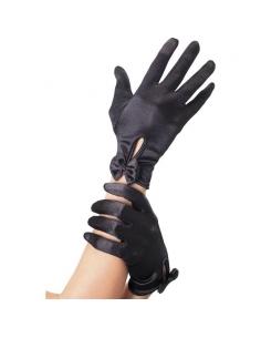 Gants coeurts avec Noeuds noirs | Accessoires