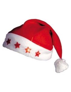 Bonnet Père Noël lumineux étoiles | Accessoires