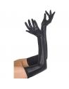 Gants longs effet mouillé noirs | Accessoires