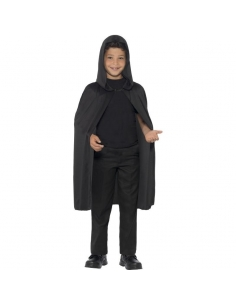 Cape noire enfant avec capuche | Accessoires
