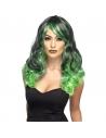 Perruque envoutante vert et noir   Accessoires