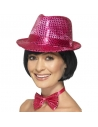 Chapeau borsalino sequins rose | Accessoires