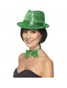 Chapeau borsalino sequins vert | Accessoires