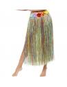 Jupe hawaïenne hula multicolore avec fleurs | Accessoires