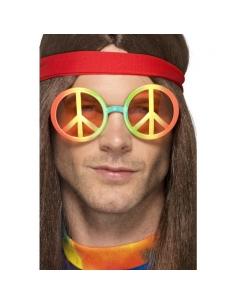 Lunettes hippie peace and love multicolores | Accessoires