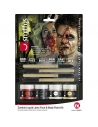 Kit de latex liquide zombie, Multicolore (4 Pots de maquillage, 4 applicateurs et 4 éponge)  | Accessoires