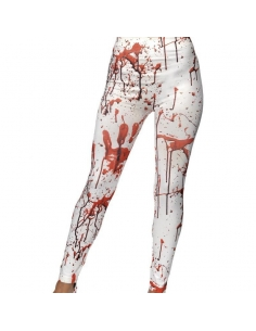 Leggings blancs avec sang | Accessoires