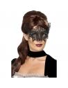 Masque dentelle brodée en filigrane noir | Accessoires