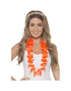 Collier hawaïen orange fluo | Accessoires