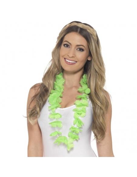 Collier hawaïen vert fluo | Accessoires
