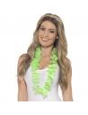 Collier hawaïen vert fluo   Accessoires