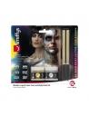 Kit Latex Métallique Or et Argent (1 x29,57 ml, maquillage or et argent, 2 éponges) | Accessoires