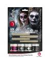 Kit latex liquide fluo squelette (4 pots de maquillage et 4 éponges) | Accessoires