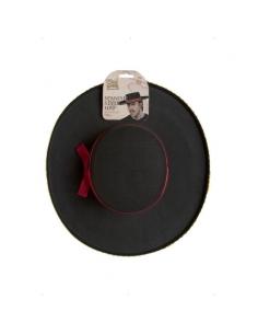 Chapeau espagnol adulte noir galonné | Accessoires