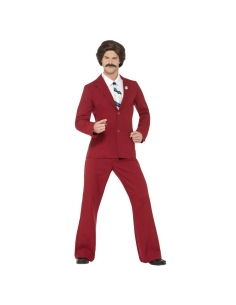 Costume Ron Burgundy Licence Anchorman | Déguisement