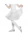 Jupon coeurt double volant enfant blanc | Danse et Théâtre