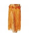 Pagne raphia long orange | Déguisement