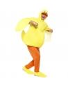 Déguisement Canard Adulte (combinaison avec ailes et capuche, pantalon avec couvre chaussures)