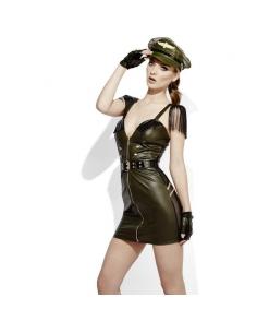 Costume cheftaine militaire sexy effet mouillé  